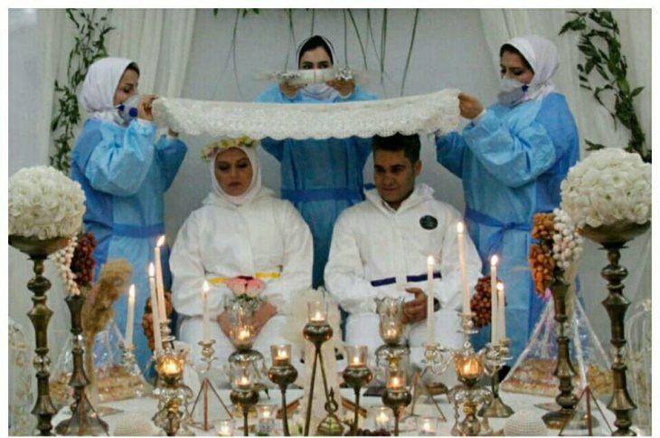 ازدواج زوج پرستار در بیمارستان اهواز+تصاویر