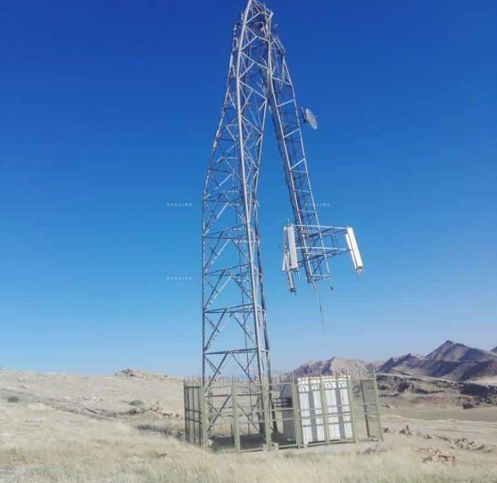سقوط دکل مخابرات روستای چهاربیشه مسجدسلیمان