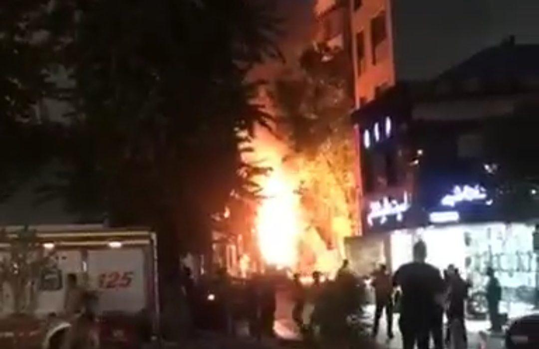 انفجار شدید و آتش سوزی در یک کلینیک درمانی شمال تهران +خبرتکمیلی + ویدئو
