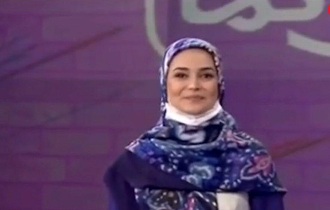 سوتی خانم مجری صدا و سیما در برنامه زنده + فیلم