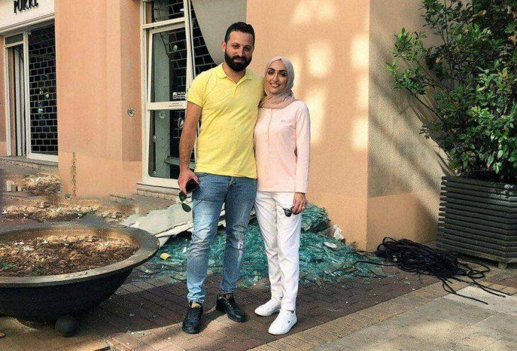 عروس بیروت که فیلم عروسیاش در لحظه انفجار جهانی شدعکس +فیلم