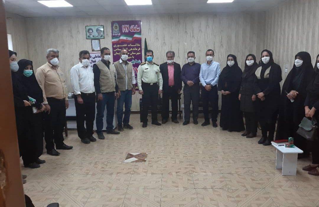 جلسه فرمانده نیروی انتظامی شهرستان مسجدسلیمان با سمن ها