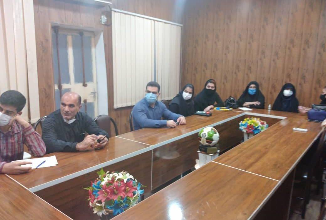جلسه معارفه و هماهنگی اعضای هیات ورزش های کارگری شهرستان مسجدسلیمان