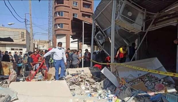 انفجار گاز در بازار عامری اهواز/چند نفر مجروح شدند
