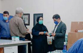 بازدید سرپرست اداره صنعت معدن و تجارت و مدیریت شبکه بهداشت و درمان از تنها کارگاه مکانیزه تولید ماسک مسجدسلیمان