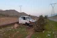 واژگونی خودروپراید در جاده جدید اندیکا