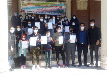 اهدا احکام ومدال قهرمانی مسابقات کاتای اسپوکس شمشیرزنی دفاعی مسجدسلیمان