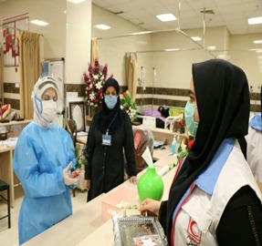 تقدیر از کادر درمان توسط دانشگاه پیام نور مرکز دزفول