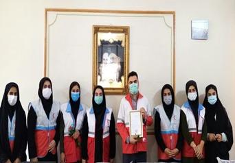 تقدیر از پرسنل سازمان هلال احمر شهرستان دزفول توسط دانشگاه پیام نور مرکز دزفول